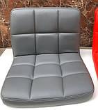 Крісло перукарське поворотне Артур сіре екокожа СДМ група, фото 5