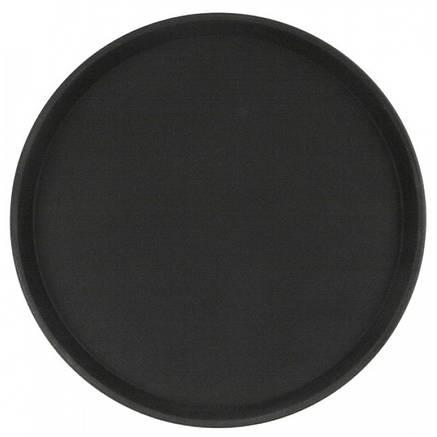 Піднос не ковзний чорний прогумований HLS 40 см (7381/1), фото 2