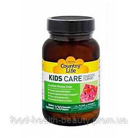 Витамины для детей KIDS CARE для пищеварения жевательные пастилки №120 ТМ Кантри Лайф / Country Life