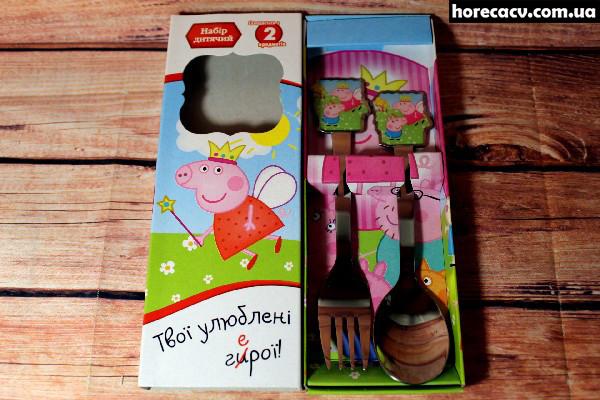 "Набір дитячий ложка і вилка Isfahan ""Свинка Пеппа"" 2 предмета (21012121/11)"