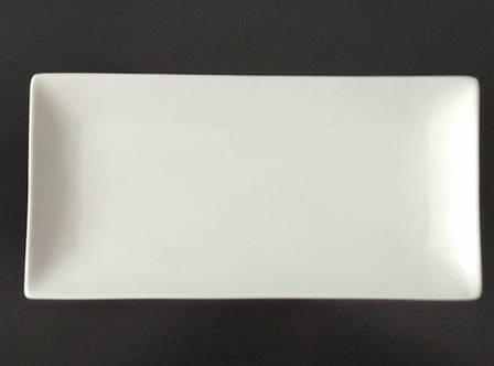 Тарелка прямоугольная фарфоровая 10″ HLS Extra white 245х120 мм. (W0170), фото 2