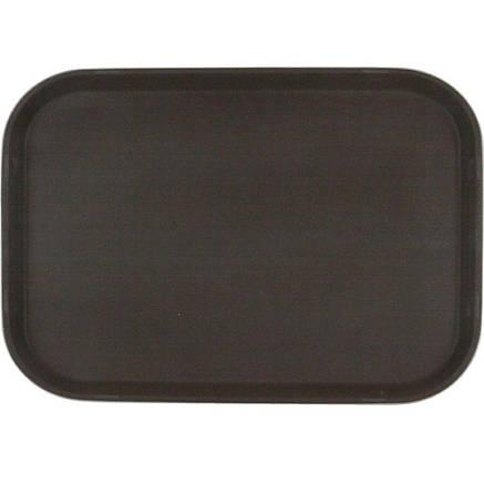 Піднос не ковзний прямокутний коричневий HLS 51 * 39 см (7388/1), фото 2