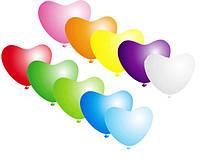 """Воздушные шары Сердце 11"""" ассорти пастель"""