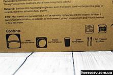 Детская подарочная посуда из бамбука 5 предметов Поросёнок HLS (4309), фото 3