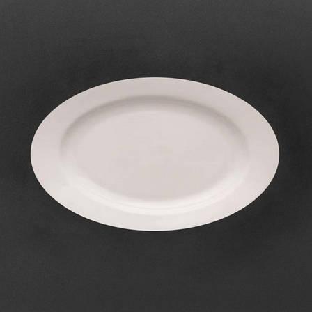 Блюдо овальное фарфоровое, польская посуда Lubiana Kaszub 380 мм (263), фото 2