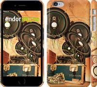 """Чехол на iPhone 6s Plus Динамики на оранжевом фоне """"185c-91"""""""