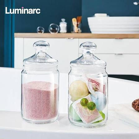Набір скляних банок з прозорою кришкою Luminarc Plain 2 шт 0,75 л (p1425), фото 2