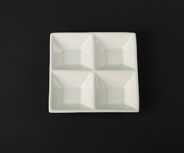 Тарелка-менажница для соусов 200мл HLS Extra white 150х150 мм (A7041)