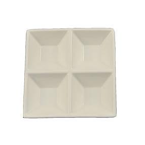 Тарелка-менажница для соусов 200мл HLS Extra white 150х150 мм (A7041), фото 2