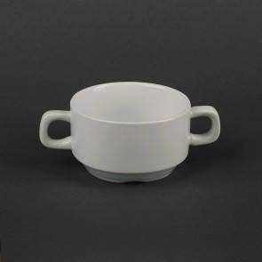 Бульонная фарфоровая чашка с ручками HLS 250 мл (HR1551), фото 2