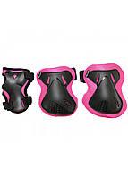 Защита детская для роликов, скейта, велосипеда, самоката SportVida SV-KY0006-L размер L Black/Pink