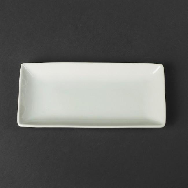 Блюдо прямоугольное фарфоровое для суши HLS 220х105 мм (A1136)