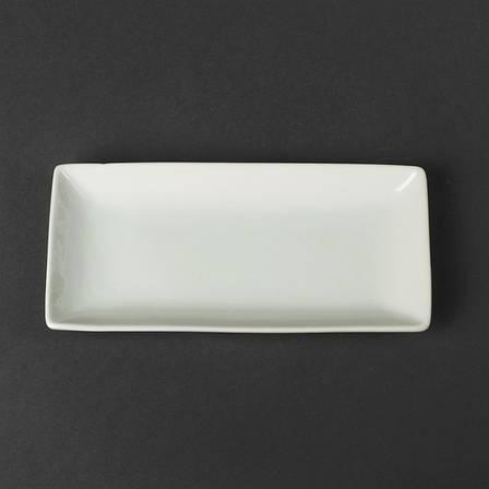 Блюдо прямоугольное фарфоровое для суши HLS 220х105 мм (A1136), фото 2
