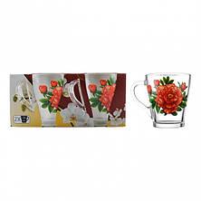 Набір чайних чашок 250 мл 2 шт ОСЗ Квіти Грація (8236), фото 2