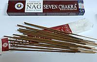 Натуральные благовония Golden Nag Palo Sant Golden Nag Seven Chakra (Седьмая Чакра)