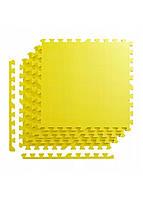 Мат-пазл (ласточкин хвост) 4FIZJO Mat Puzzle EVA 120 x 120 x 1 cм 4FJ0076 желтый. Мат-татами, коврик