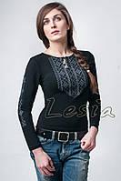 Жіноча вишиванка Мережка сіра