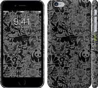 "Чехол на iPhone 6s Plus Чёрно-серый стикер бомбинг ""2432c-91"""