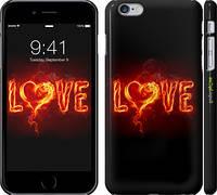 """Чехол на iPhone 6s Plus Огненная любовь """"719c-91"""""""