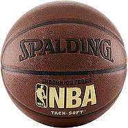 Баскетбольний м'яч Spalding NBA Tack-Soft IndoorOutdoor Basketball розмір 7 Оригінал, фото 3