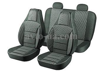 Чехлы Пилот для сидений ВАЗ 2101-2105 кож-зам черный,ткань черно-серая