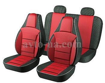 Чехлы Пилот для сидений ВАЗ 2101-2105 ткань черная,ткань красная