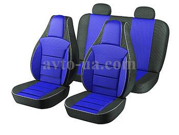 Чехлы Пилот для сидений ВАЗ 2101-2105 ткань черная,ткань синяя