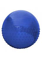 Мяч для фитнеса (фитбол) полумассажный SportVida 55 см Anti-Burst SV-HK0290 Blue. Гимнастический мяч