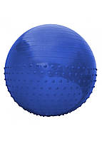 Мяч для фитнеса (фитбол) полумассажный SportVida 65 см Anti-Burst SV-HK0292 синий