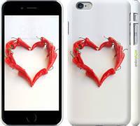 "Чехол на iPhone 6s Plus Любовь с перцем ""730c-91"""