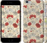 """Чехол на iPhone 6s Цветы на бежевом фоне """"1225c-90"""""""