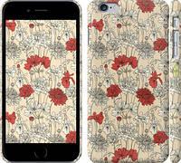 """Чехол на iPhone 6s Plus Цветы на бежевом фоне """"1225c-91"""""""