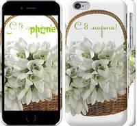 "Чехол на iPhone 6s С 8 марта. Подснежники ""1891c-90"""