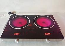 Электрическая плита Crownberg CB-1327 настольная инфракрасная на 2 конфорки по 2000 Вт
