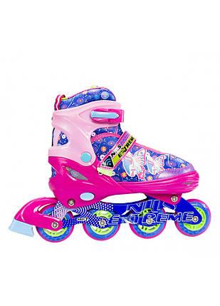Роликовые коньки Nils Extreme NJ4605A Size 38-41 Pink, фото 2