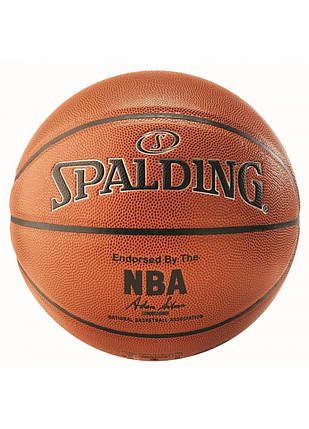 Мяч баскетбольный Spalding NBA Silver IN/OUT Size 7, фото 2