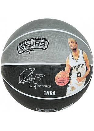 Мяч баскетбольный Spalding NBA Player Tony Parker Size 7, фото 2