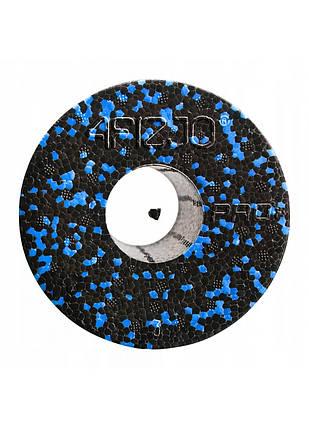 Массажный ролик (валик, роллер) гладкий 4FIZJO EPP PRO+ 45 x 14.5 см 4FJ1141 Black/Blue, фото 2
