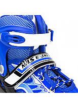 Роликовые коньки Nils Extreme NJ1828A Size 31-34 Blue, фото 3