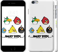 """Чехол на iPhone 6s Plus Angry birds. Space on a white background """"540c-91"""""""
