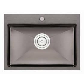 Кухонная мойка Qtap D5843BL 2.7/1.0 мм (QTD5843BLPVD10)
