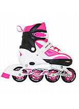 Роликовые коньки SportVida SV-LG0043 Size 35-38 White/Pink, фото 2
