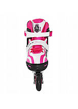 Роликовые коньки SportVida SV-LG0043 Size 35-38 White/Pink, фото 3