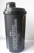 Шейкер спортивный PowerPlay черный ProteinShop 700 мл SKL24-190344