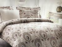 Комплект постельного белья Tivolyo Home Silk Satin Angel Bej шелк сатин 220-200 см бежевый
