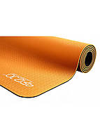 Коврик (мат) для йоги и фитнеса 4FIZJO TPE 6 мм 4FJ0034 оранжевый. Спортивный коврик для дома