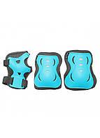 Защита детская для роликов, скейта, велосипеда, самоката SportVida SV-KY0008-L размер L Blue/Grey