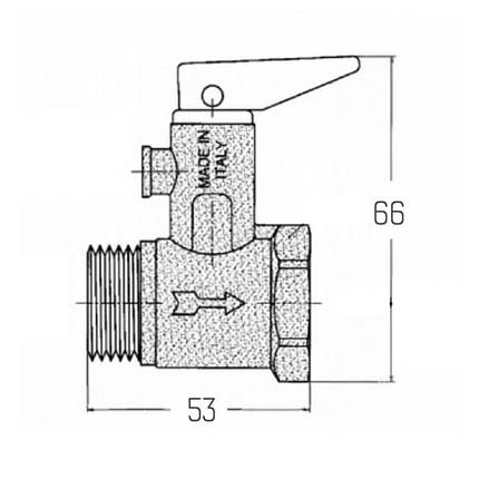 "Подрывной клапан Icma 1/2"" №GS09, фото 2"