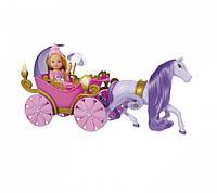 Игровой набор Кукла Еви в сказочной карете с фонариками и фиолетовой лошадкой - Evi Love Fairy Carriage Simba