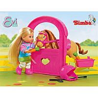 Игровой набор Кукла Еви Конная прогулка с лошадкой, ограждением, едой и аксессуарами - Evi Horse Stable Simba